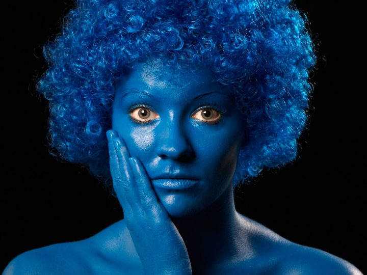 Laura i blåt