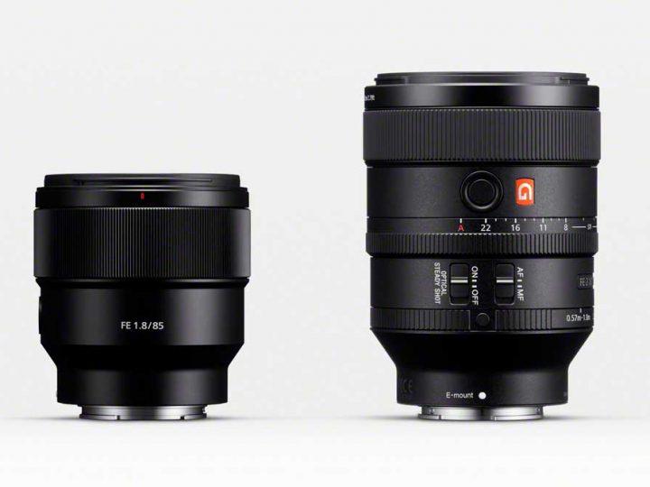 Sony introducerer to nye objektiver: FE 100mm F2.8 STF G Master™ og FE 85mm F1.8