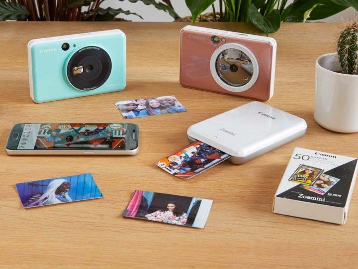 Skyd, print og del selfies på farten med instant-kameraprinterne Canon Zoemini S og Canon Zoemini C